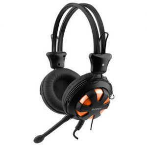 Слушалки с микрофон A4 TECH HS-28 ORANGE