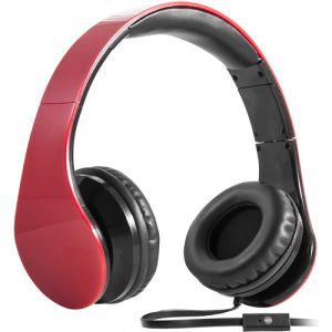 Слушалки Defender Accord HN-047,Red 63046  - слушалки с регулируема лента за глава; Дължина на кабела: 1,2м; 3,5мм конектор  63046
