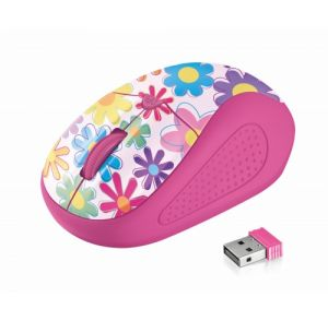 TRUST Yvi Wireless Mouse - flower power 20250