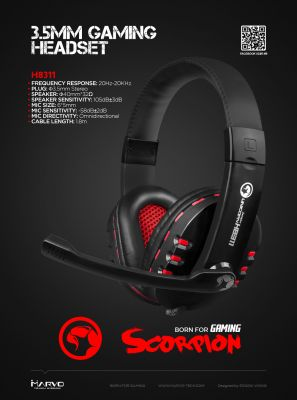 Marvo геймърски слушалки Gaming Headphones H8311