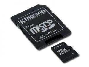 Карта памет  KINGSTON  64GB MicroSDHC Micro SD Class 10, with adapter