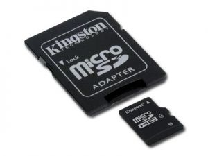 Карта памет  KINGSTON  128GB MicroSDHC Micro SD Class 10, with adapter