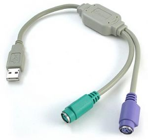 Преходник USB to 2xPS/2